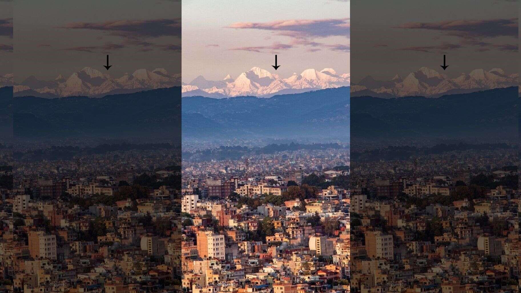 काठमाडौँबाटै देखियो दशकौँपछि सगरमाथाको दुर्लभ दृश्य !