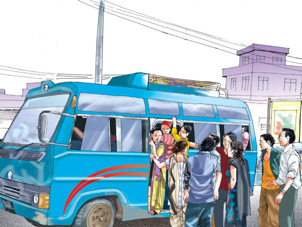 भाडा बढाएर सार्वजनिक यातायात चलाउने सरकारको तयारी
