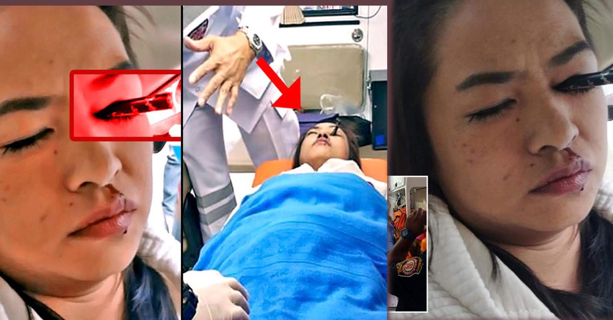 गुडिरहेको कारमा मेकअप गर्दै थिइन् युवती, एक्कासी आँखामा छिर्यो आइब्रो पेन्सिल (भिडियोसहित)