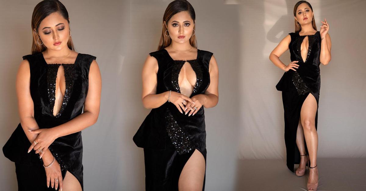 'ब्ल्याक ड्रेसमा ब्युटिफुल' रश्मि (फोटो फिचर)