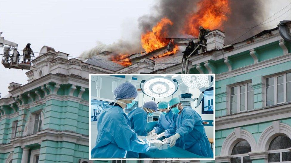 अस्पताल जलिरह्यो, डाक्टरहरुले मुटुको अपरेशन गरिरहे…