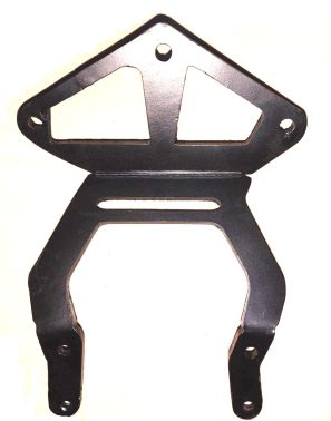 Instrument bracket - Laser cut Aluminum - mate black