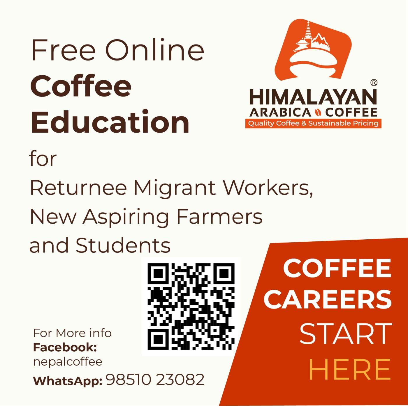 free coffee training for coffee farmers in Nepal