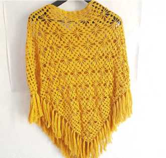 Star Poncho in gold