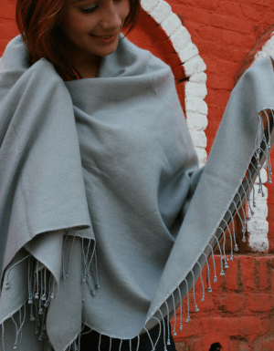 Cashmere shawl and throw