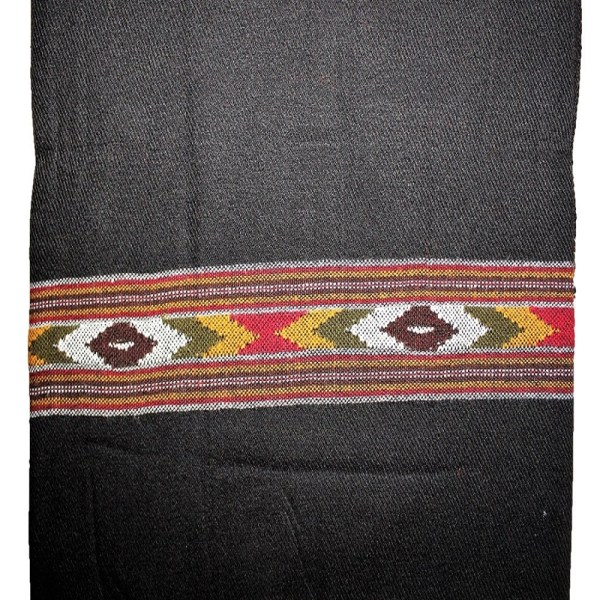 Cashmilon Black Shawl, Hand Woven Cashmilon Shawl, Kullu Shawl, Himachal Shawl, Buy Cheap Shawl Online, Embroidered Shawl, Shawl for Women, Shawl For Girls.