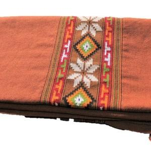 Kullu Wool Women Shawl- Maroon with Floral Embroidery