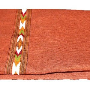Kullu Cashmilon Women Shawl-Maroon Color with Embroidery