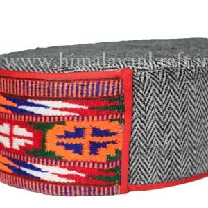 Himachal Cap (Topi)-Be a Pahari -Grey with Beautiful Patti-HimalayanKraft