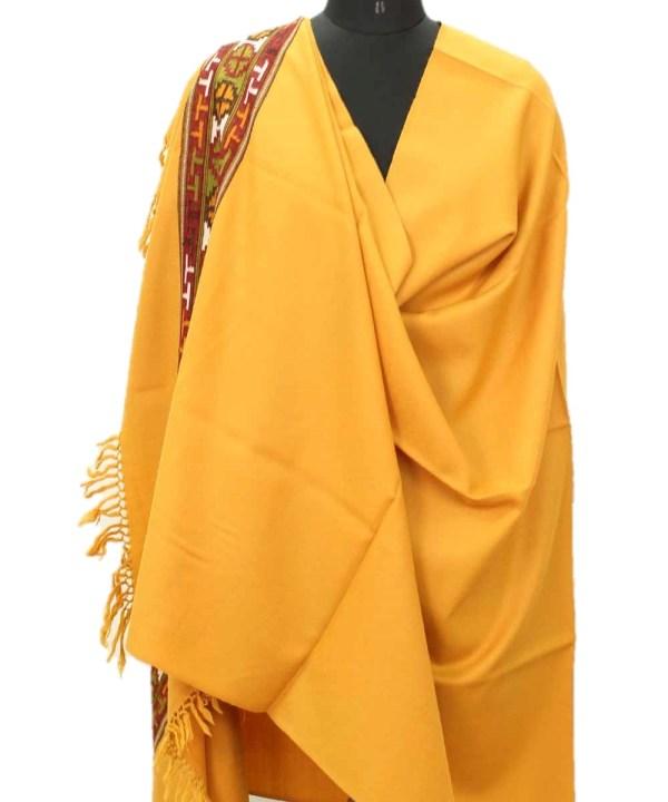 Australian Marino Wool Shawl Hand Woven Kullu Embroidery-www.himlayankraft.in