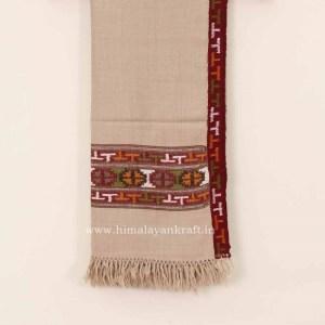 Women White Shawls   Marino Wool Hand Woven Embroidered Kullu