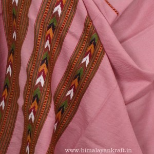 Pure Woolen Pink Shawl Ladies Embroidered from Kullu