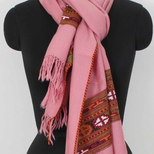 Stole Wrap Shawl Woolen Handwoven Floral Embroidery