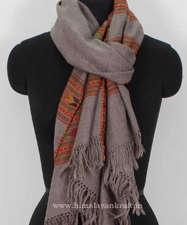 Fashion Handwoven Stole Kullu woolen Stole Embroidered - www.himalayankraft.inw