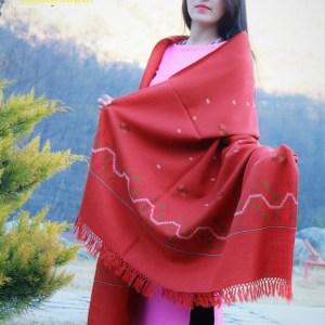 Fine Wool Handloom Shawl Purely Hand Woven Floral Design