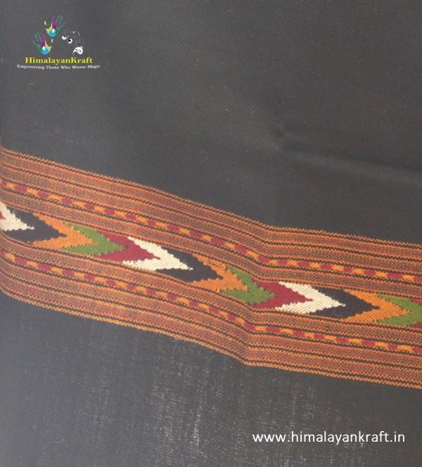 HimalayanKraft's Handloom Ultra-Light Pure Wool Kullu Stole (Red)-www.himalayankraft.in