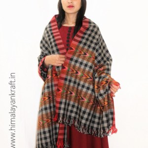 Purely Hand Woven Pure Wool Himachal Stripped Stole