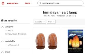 Where to buy himalayan salt lamp online Target