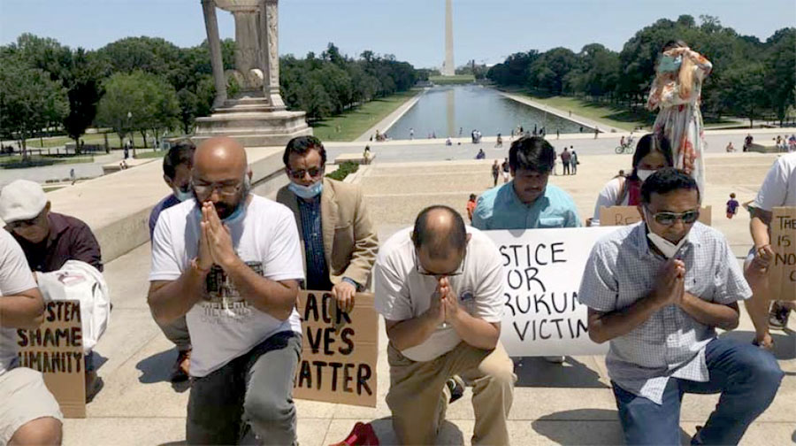 DC's non-Dalit Nepalis kneel before the Dalit community and apologize