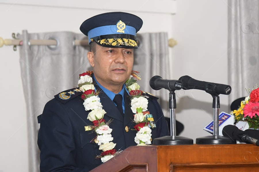 Newly appointed IGP Thapa confirmed the rank mark