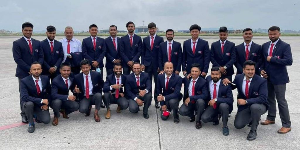 Nepalese cricket team leaves for Oman