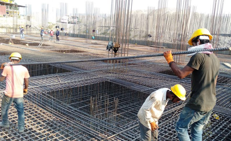 Foreign contractors in the Damak View Tower agreement, only local people at work