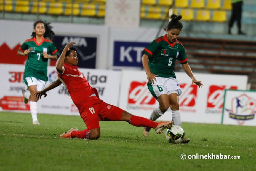 When the national women's team played its first international game at the Dashrath Stadium [ फोटो फिचर ]