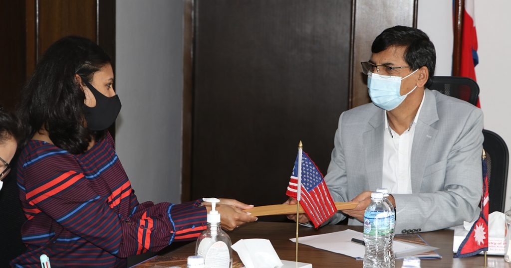 Meeting between MCC Vice President and Finance Minister