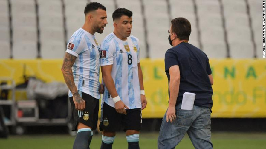 Why was the match between Brazil and Argentina postponed?