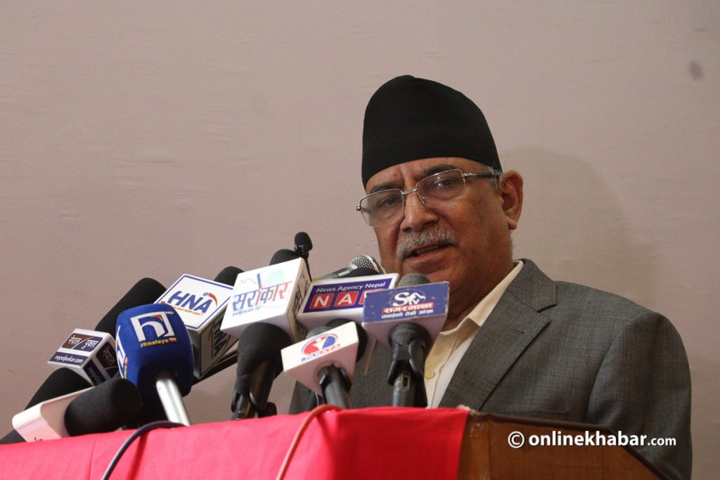 Maoists are the party that solves all the problems of the country: Prachanda