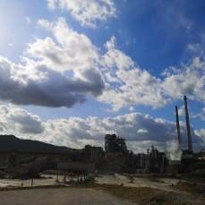 伊佐鉱山の工場