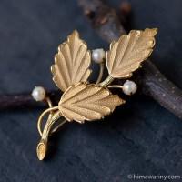 真珠の小枝ヴィンテージ・ブローチ