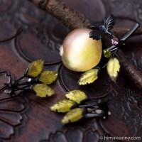 Austria-ザクロ・フルーツガラス・ブローチ&イヤリング・セット