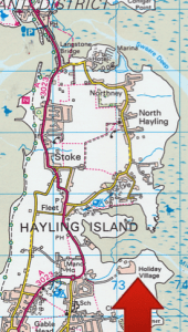 Map showing Mill Rythe Holiday Village