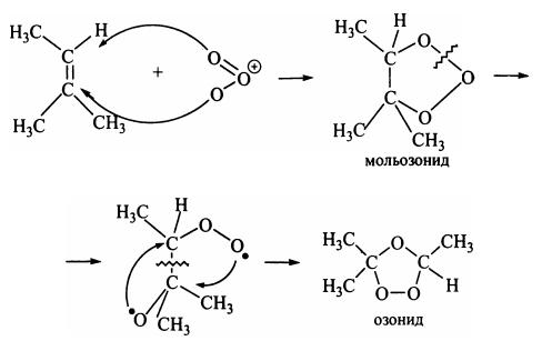 Окисление алкенов озонолиз