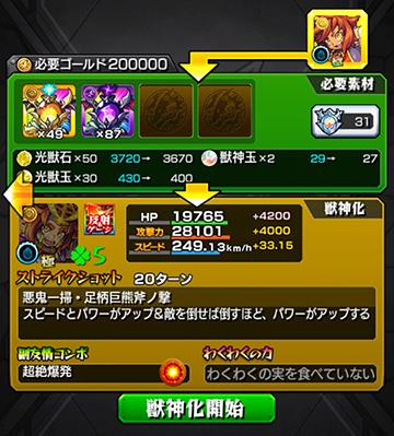 金太郎さん獣神化!