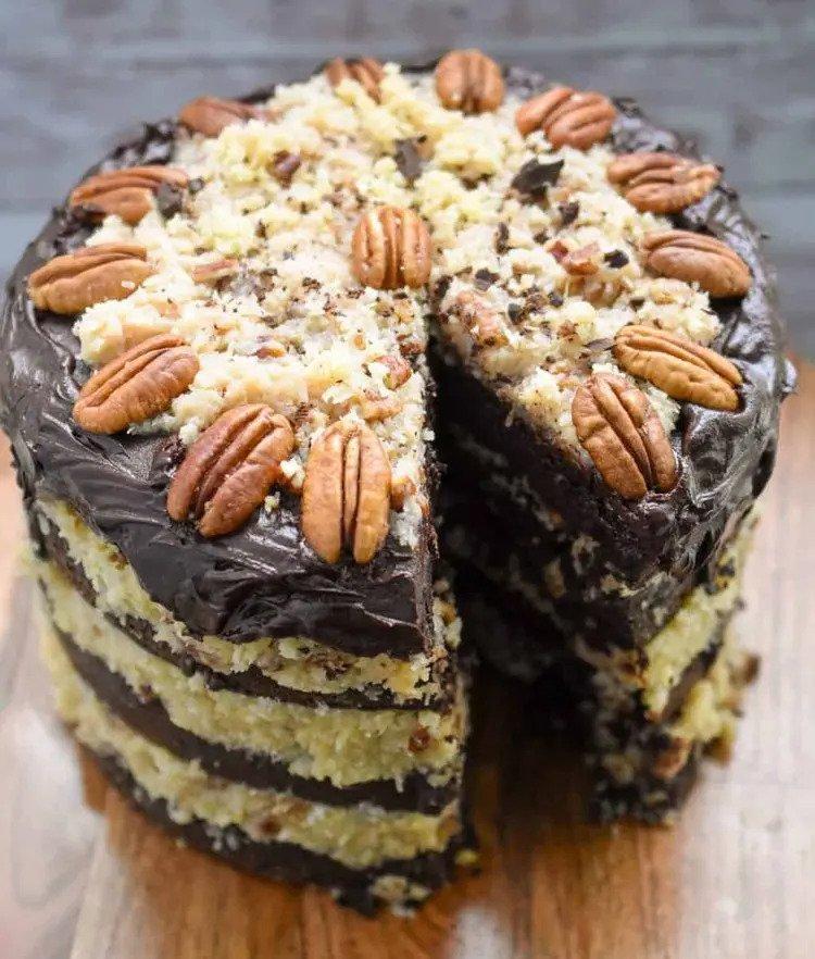 Keto German Chocolate Cake Recipe