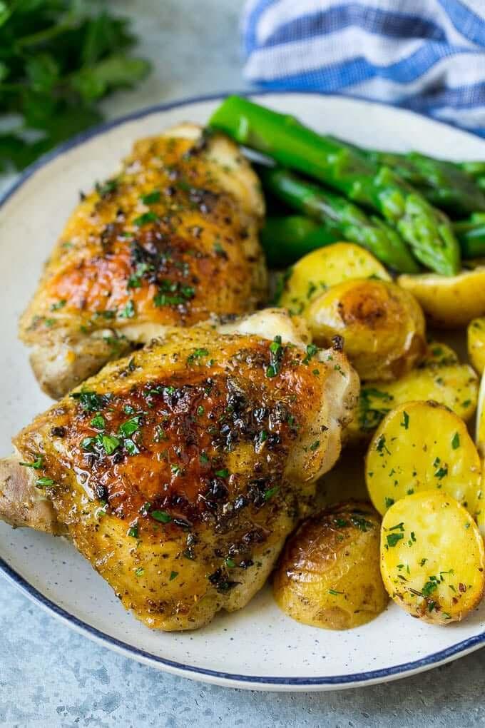 Greek Sheet Pan Chicken With Lemon And Potatoes