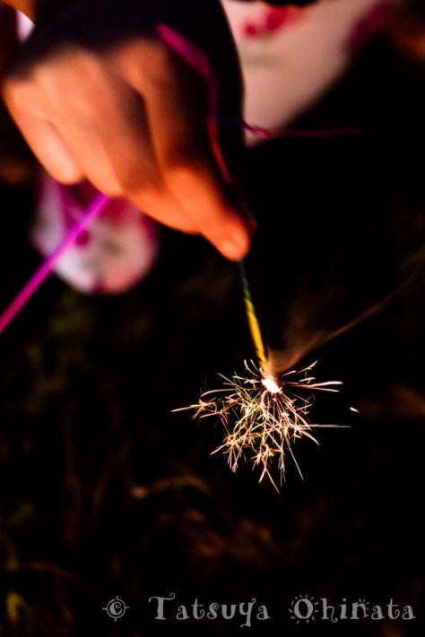 やはり線香花火は綺麗ですねー