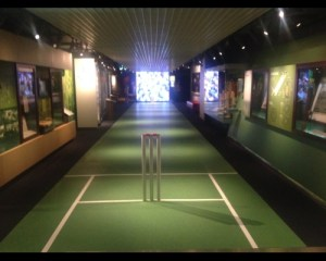 Entrance to the cricket display