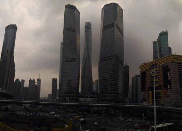 Dark clouds looming over Pudong