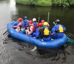 summer rafting, canoeing at Summer Youth Camp Audubon Center, Sandstone