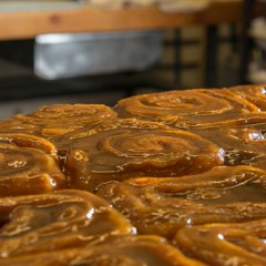 famous caramel rolls at Tobies Hinckley MN