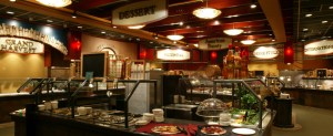 Grand Casino Hinckley buffet; Salad bar, Asian foods, desserts buffet in Hinckley MN