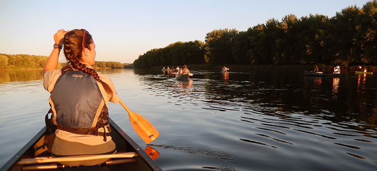 Canoe trip event at St. Croix State Park