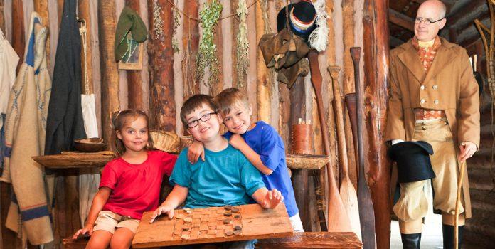 children's weekend at Snake River Fur Post Pine City