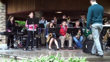 free concerts Robinsons Park Pine City MN image of High School Jazz Band