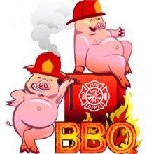 Hinckley Fire Dept. Hogs & Hoses BBQ event poster image