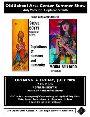 art shows in Sandstone MN at Old Scool Arts Center in the summer