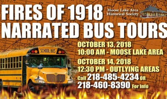 Bus tours for Fires of 1918 100th Anniversary in Moose Lake MN